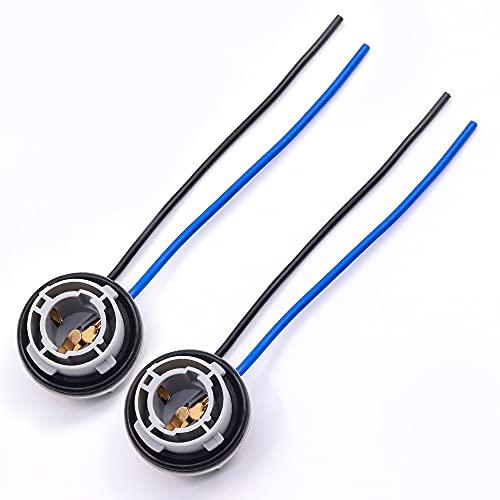 Biqing 1156 - Toma de bombillas LED de 180 grados para luces de freno, toma de luz de freno, toma de cable compatible con bombillas LED, intermitentes, copia de seguridad