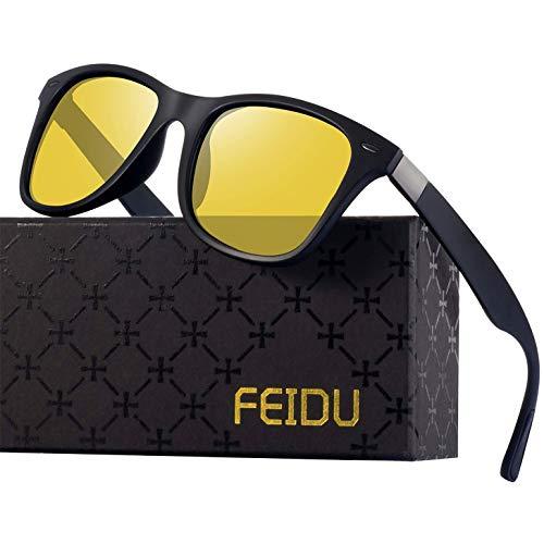 Polarisierte Sonnenbrillen Herren Vintage Stil Sonnenbrillen Damen-Sport im Freien Golf Radfahren Angeln Wandern FD2150 (7-Gelb, 60)