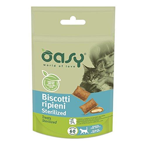 OASY Biscotti Ripieni Sterilized 60Gr - Snack Per Gatto