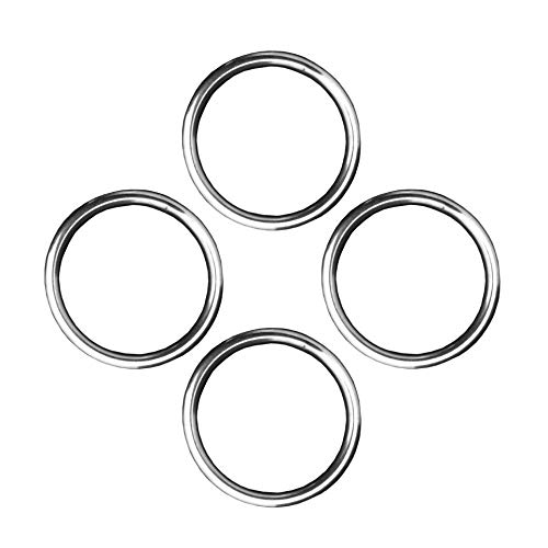 10pcs STAINLESS STEEL 316 DEE D RING MARINE DECK SHADE SAIL 5mm x 35mm