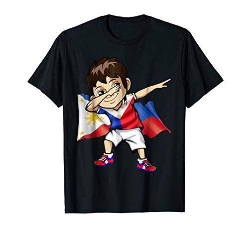 Dabbing Boy Philippine Flag Filipino Meme Jersey Dab T Shirt