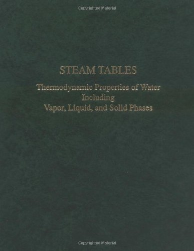 Steam Tables Thermodynamic Properties measurements