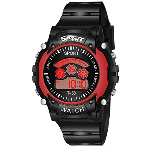 Shunya GK-Digital 7 Lidht Red Wrist Watch for Boy