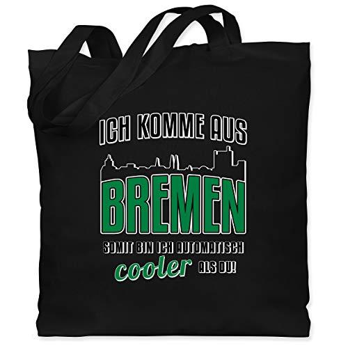 Städte - Ich komme aus Bremen - Unisize - Schwarz - jutebeutel bremen - WM101 - Stoffbeutel aus Baumwolle Jutebeutel lange Henkel