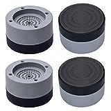 Gativs 4 Stück Waschmaschine Antivibrationsmatte Waschmaschinen Unterlage Vibrationsdämpfer...