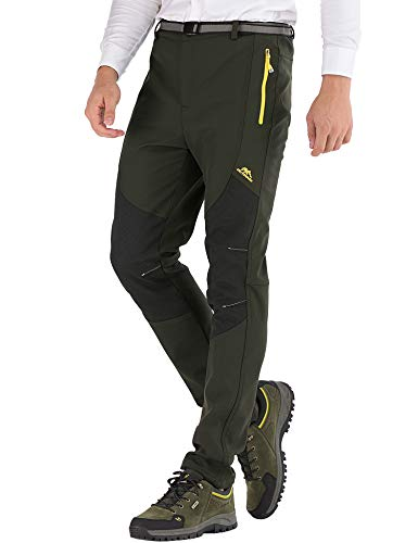 DAFENP Pantalones Trekking Hombre Impermeable Pantalones de Escalada S