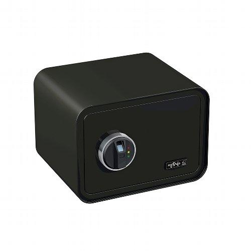Basi mySafe 350 - Fingerprint Safe Elektronik-Möbel-Tresor, Elektronisches Schloss mit Fingerabdruck-Sensor 250 x 350 x 280 mm (Schwarz)