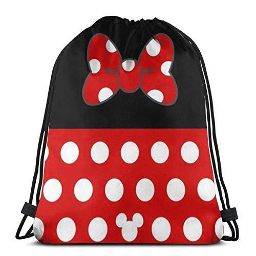 XCNGG Bolsa con cordón Bolsa con cordón Bolsa portátil Bolsa de Gimnasio Bolsa de Compras Classic Drawstring Bag- Mouse Gym Backpack Shoulder Bags Sport Storage Bag for Man Women
