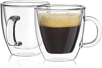 2-Set JoyJolt Savor Double Wall Insulated Glasses Espresso Mugs