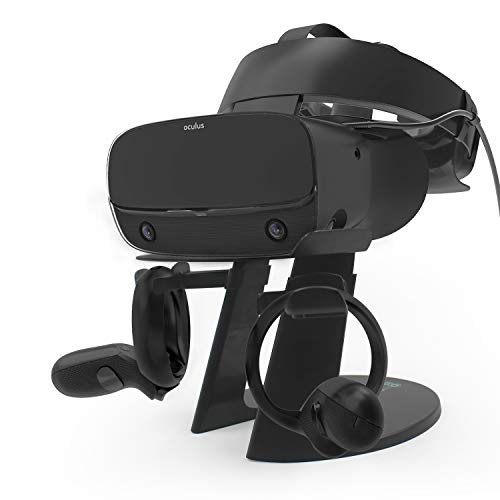 AFAITH VR Stand, VR Headset Display Stand with Game Controller Holder for Oculus Rift SOculus QuestRift Headset and Other VR Headset