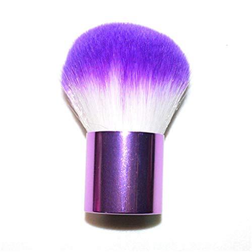 1 pièces cosmétiques face à tous les jours Outils Violet pinceau de maquillage pinceau grand ovale maquillage naturel brosse commode cheveux doux pour les femmes,Violet