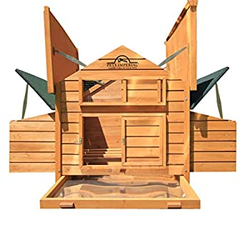 Pets Imperial Double Savoy Large Chicken Coop with 2 Nest Boxes Suitable Up to 10 Small Birds