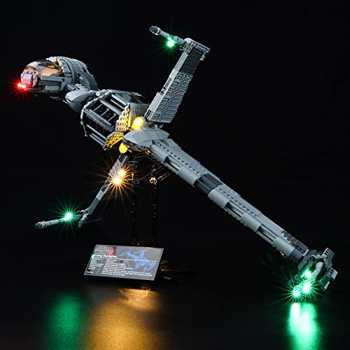 BRIKSMAX Kit de iluminación LED Lego Star Wars Caza de ala B - Compatible con Lego 10227 Building Blocks Model- No incluir el Conjunto de Lego