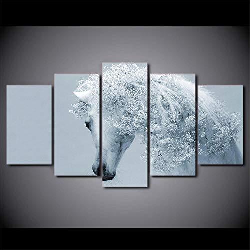 Zqylg Venta caliente HD Impreso Snow Mountain Tiger Pintura sobre lienzo decoración de la habitación impresión del cartel imagen lienzo Decoración de la pared de la oficina 30x50 30x70 30x80 Sin marco