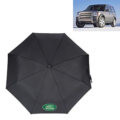 AUTOS Car Folding Umbrella Compact Travel Umbrella Durable Rain Umbrella Portable Umbrella -Reinforced Canopy, Ergonomic Handle, with Car Logo,Land Rover