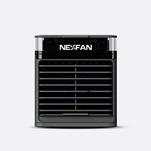 Mini-Luftkühler, Tragbare 3-In-1-Mini-Klimaanlage, Luftkühler Und Luftbefeuchter Lüfter Und Luftreiniger Mit 3 Einstellbaren Geschwindigkeiten 7 LED-Leuchten, Persönlicher Raumluftkühler Für,Schwarz