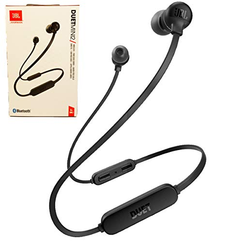 JBL Duet Mini 2 Wireless Bluetooth in-Ear Headphones/Earbuds Hands Free Calls Pure Bass Sound (Black)