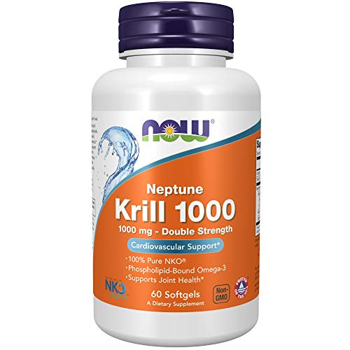 NOW Aceite De Krill Neptune (Nk0.,.) 1000 Mg. 60 Perl 500 G