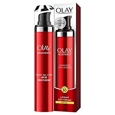 Olay Regenerist 3 Point Anti-Ageing Lightweight Day Cream with SPF30, Hyaluronic Acid, 50 ml