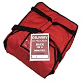 Large Commercial Pizza Delivery Bags Fit Up to 4 Large Pizzas Red Ultra Warm Designed for ...