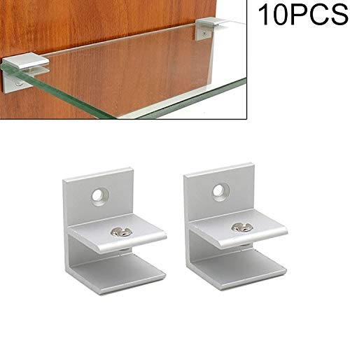 Cabinet Door Handle F-Type Aluminum Alloy Glass Combination Clamp Cabinet Partition Fixing Clip, Size: S, (Cliped 5-10mm/10 PCS)