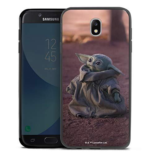 DeinDesign Slim Hülle extra dünn kompatibel mit Samsung Galaxy J7 Duos 2017 Silikon Handyhülle schwarz Hülle Star Wars The Child Baby Yoda