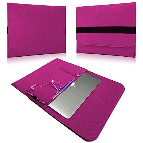 NAUC Laptop Tasche Sleeve Schutztasche Hülle Tablets MacBook Netbook Ultrabook Case kompatibel mit Samsung Apple Asus Medion Lenovo, Farben:Pink, Für Notebook:Archos 133 Oxygen