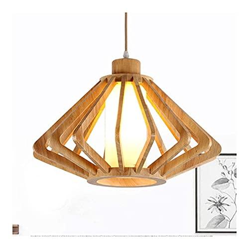 LATOO Lámparas de araña Candelabro Moderno Minimalista Dormitorio Sala de Estar Comedor Cueva Madera Personalidad Creativa Lámpara LED Candelabro 34cm * 34cm * 23cm