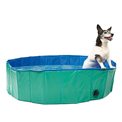 Faltbares Hundepool, Planschbecken, Groß 120X30cm - Robustes, Hochwertiges PVC mit Verstärkten Oxford-Wänden| Haustier Schwimmbecken, Badewanne, Welpen Katzen Kinderpool Doggy Pool.