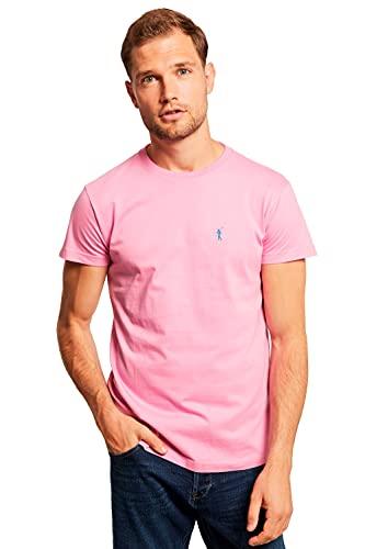 POLO CLUB Camiseta Rosa con Logo Bordado