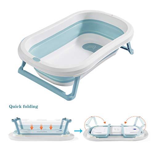 Sdfhh Bathroom Collapsible Bucket Camping Children Safe Portable Foldable Bathtub,31.4 20inch - Bath Tub Kids Bath Tub Can Sit Lying Bath Tub The Best Helper in The Bathroom (Color : Blue)
