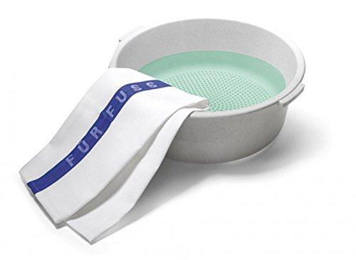 Fußbad-Schüssel mit Noppen für Massage, Kosmetex Fuß-Wanne, Fußbadewanne für Fußsohle mit Massage-Effekt Wasch-schüssel Ø40cm
