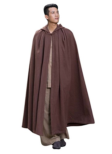 Katuo Meditacin budista monje disfraz de plus tamao monje traje Gris marrn Talla nica