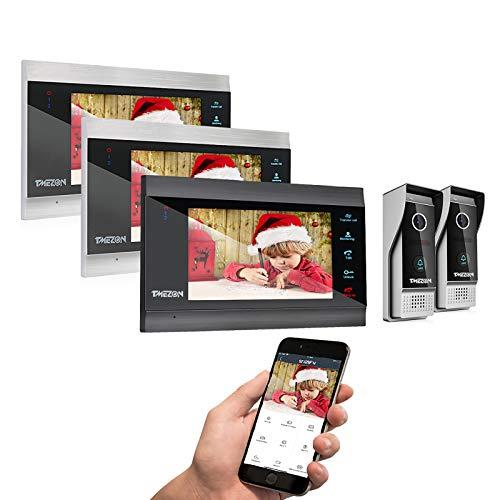 7 Inch IP Wireless Video Doorbell Intercom System...