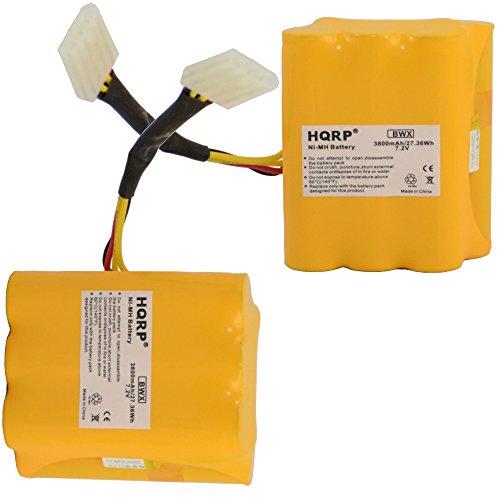 HQRP 3800mAh Super Extended Battery 2-Pack for Neato XV-25 XV-21 XV-15 XV-14 XV-12 XV-11 XV Signature Pro 945-0005 205-0001 945-0006...