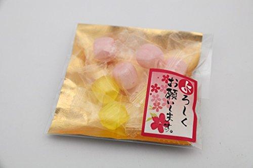 新生活 引越し 挨拶プチギフト あめいろこづつみ (ご挨拶・よろしくお願いします)レモン飴・苺ミルク飴 500個入り