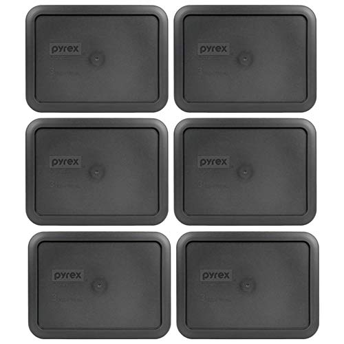 Pyrex 7210-PC Rectangle 3 Cup Charcoal Grey Storage Lid for Glass Dish