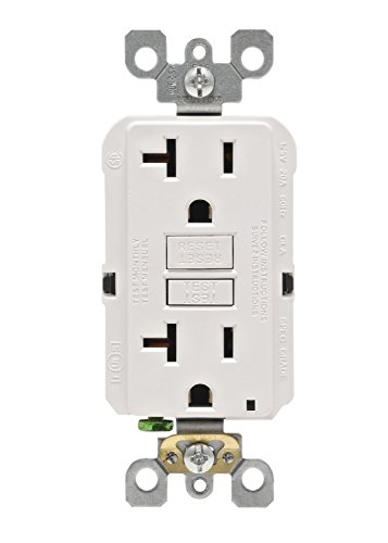 Leviton GFNT2-3W Self-Test SmartlockPro Slim GFCI Non-Tamper-Resistant Receptacle with LED Indicator (3 Pack), White