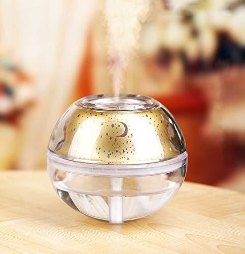 ERKEJI Diffuseur d'huiles essentielles 500ML Grande capacité Aroma humidificateur Voiture Spray hydratant Cristal Nuit Projection de lumière muet USB Bureau Famille Famille Chambre de bébé
