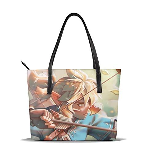 Legend Zelda Bolsos de hombro Bolsos de hombro Bolsos de viaje y ocio Aprendizaje Moda Tendencias Bolsos de mano de gran capacidad sólido y duradero