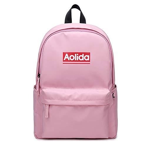 Marsoul Rucksäcke Schulrucksack Teenager Rucksäcke Reiserucksack mit Laptopfach für Camping Outdoor Sports Wasserdicht Daypack (Pink)