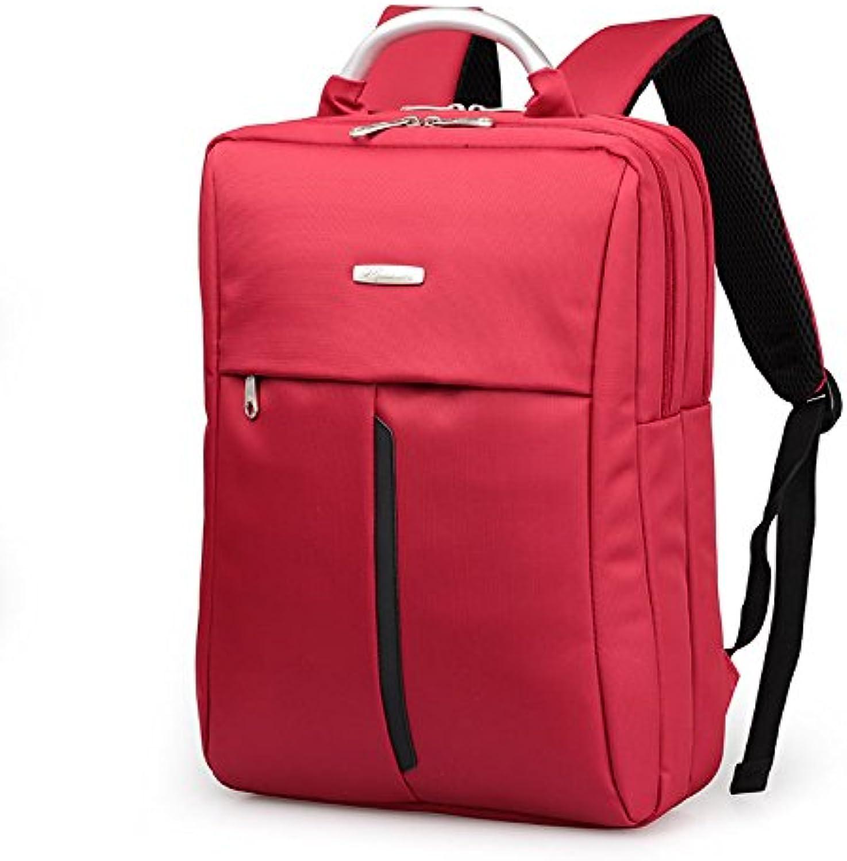 Legere Umhngetaschen Mnner portable Dual-use-Rucksack Geschftsmann Taschen Business Reise computer bag Arbeit Pack-Stecker Business Pack, rot