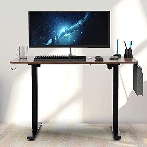 Mesa de Centro de Muebles Modernos 48x24 Pulgadas Escritorio de computadora Escritorio de pie eléctrico Ajustable en Altura con Gancho para Auriculares y Bolsa de Almacenamiento Mesa de Oficina