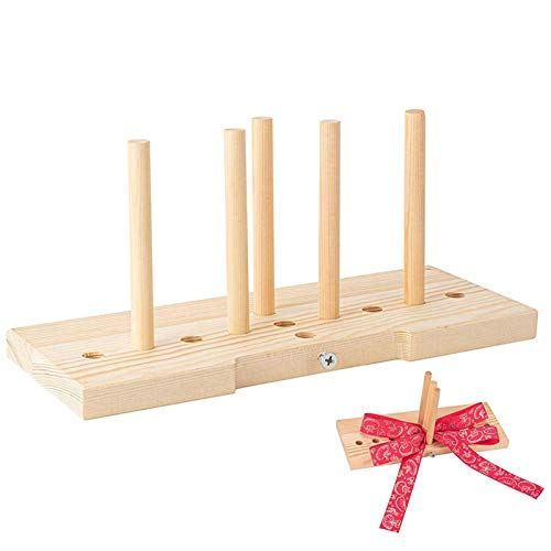 Luoji Bow Maker For Ribbon Wreaths, Wooden Wreath Bow Maker Tool Multipurpose Wooden Ribbon Bow Making Tools For Gift Bows, Hair Bows, Corsages, Holiday Wreaths