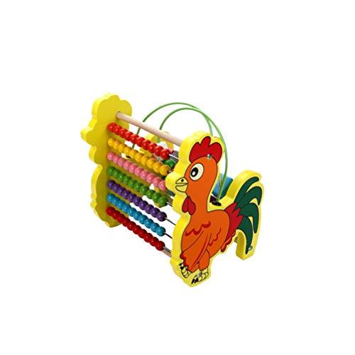 NUOBESTY Pädagogische Zählspielzeug-Mathewerkzeug-Kleinkindgeschenke des Hölzernen Abakusses für Jungen Und Mädchen für Frühe Kindheitsbildungsentwicklung
