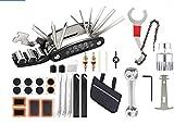 GJWHENS Kit de reparación de Bicicletas, Multiherramienta para Bicicletas, Kit de pinchazos de neumáticos, Multiherramienta para Bicicletas 16 en 1 con Kit de Parches, para Bicicleta de montaña,C