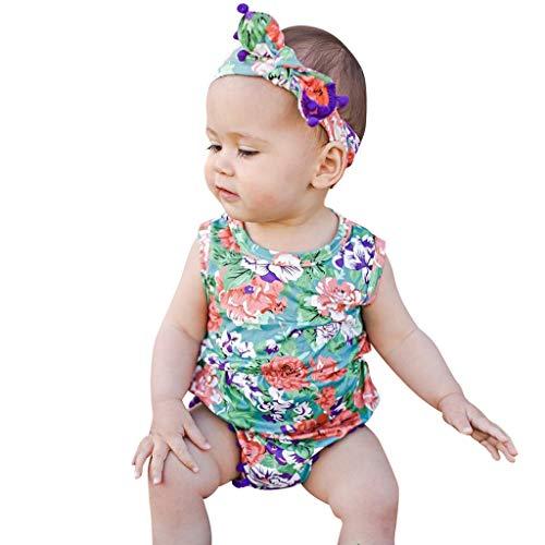 Julhold Baby Pasgeboren Baby Kid Meisje Leuke Kwastje Print Casual Katoen Romper Bodysuit +Haarband Outfits Set 0-24 Maanden