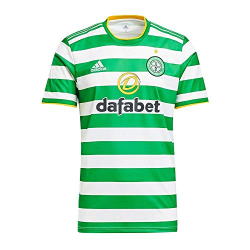 adidas CFC H JSY Camiseta, Blanco/Verde, S para Hombre