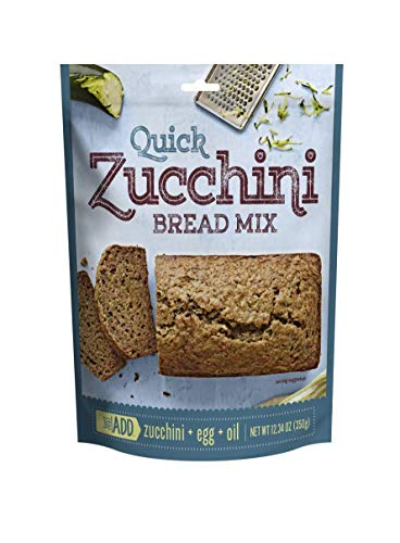 Just Add Quick Zucchini Bread Mix | 12.34 Ounce, Pack of 12 | Simple Ingredients
