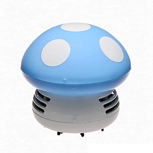 Vosarea Mini linda aspiradora de polvo de mesa portátil de dibujos animados inalámbrico de escritorio esquina barredora de polvo limpiador de teclado (azul)